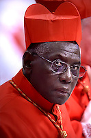 Cardinal Robert Sarah,. Pope Francis, during a consistory at Peter's basilica. Pope Francis has named 17 new cardinals, on November 19, 2016
