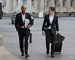 © Joel Goodman - 07973 332324 . 25/09/2016 . Liverpool , UK . CHUKA UMUNNA arrives at the Museum of Liverpool for The Marr Show during a round of Sunday morning political interviews from the Docks in Liverpool on the first day of the Labour Party Conference . Photo credit : Joel Goodman
