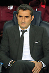 UEFA Champions League 2018/2019.<br /> Quarter-finals 2nd leg.<br /> FC Barcelona vs Manchester United: 3-0.<br /> Ernesto Valverde.