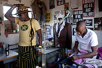Young designers part of the group Smarteez in their workshop in Soweto. Sibu FDB on the left. Photo: Per-Anders Pettersson