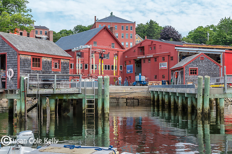 Rockport  village seen from the Rockport Marine pier, Maine, USA
