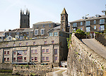 Historic buildings in town centre of Penzance, Cornwall, England, UK