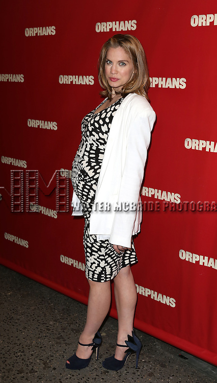 Anna Chlumsky attending the Broadway Opening Night Performance of 'Orphans' at the Gerald Schoenfeld Theatre in New York City on 4/18/2013...