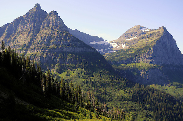 Mt. Oberlin, Cannon Mountian, Glacier National Park. marc Caryl Nature and Landscape Photos.