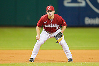 First baseman David Kindred #13 of the Alabama Crimson Tide on defense against the Auburn Tigers at Riverwalk Park on March 15, 2011 in Montgomery, Alabama.  Photo by Brian Westerholt / Four Seam Images