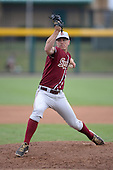 Florida State Seminoles pitcher Billy Strode (5) during a game against the South Florida Bulls on March 5, 2014 at Red McEwen Field in Tampa, Florida.  Florida State defeated South Florida 4-1.  (Copyright Mike Janes Photography)