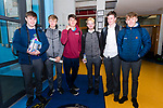 Pobalscoil Chorca Dhuibhne students Mark Ashe, Ruadhan McCarthy, Sean McGregor, Padraig Kavanagh, Padraig Ó hOghan and Liam Bambury on the first day of the Leaving Certificate.