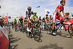 The peloton including Romain Bardet (FRA) Team Sunweb summit the Cat 3 climb of Cote d'Eschdorf during Stage 3 of the 104th edition of the Tour de France 2017, running 212.5km from Verviers, Belgium to Longwy, France. 3rd July 2017.<br /> Picture: Eoin Clarke | Cyclefile<br /> <br /> All photos usage must carry mandatory copyright credit (&copy; Cyclefile | Eoin Clarke)