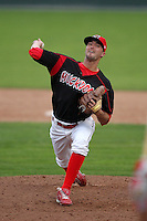 Batavia Muckdogs pitcher Matt North during the first game of a double header vs. the Williamsport Crosscutters at Dwyer Stadium in Batavia, New York;  August 25, 2010.   Batavia defeated Williamsport 4-3.  Photo By Mike Janes/Four Seam Images