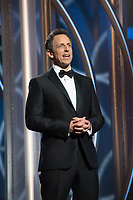 Host Seth Myers at the 75th Annual Golden Globe Awards at the Beverly Hilton in Beverly Hills, CA on Sunday, January 7, 2018.<br /> *Editorial Use Only*<br /> CAP/PLF/HFPA<br /> &copy;HFPA/PLF/Capital Pictures
