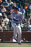 SAN FRANCISCO, CA - JULY 11:  Anthony Rizzo #44 of the Chicago Cubs bats against the San Francisco Giants during the game at AT&T Park on Wednesday, July 11, 2018 in San Francisco, California. (Photo by Brad Mangin)