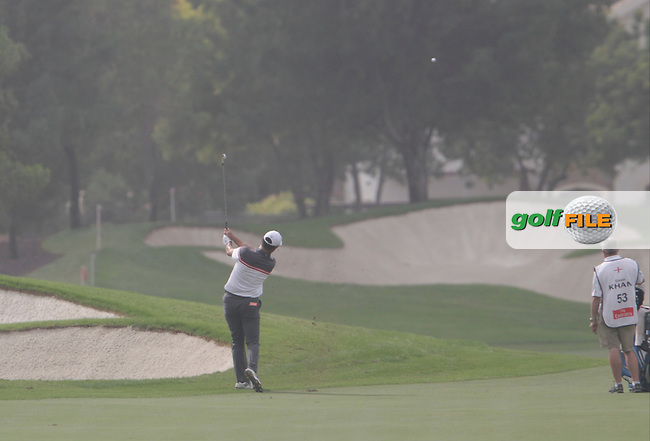 Simon KHAN (ENG) during round 4 of the DP World, Tour Championship, Dubai, UAE.<br /> Picture: Fran Caffrey www.golffile.ie