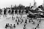 INDIA Mumbai Bombay , middle class in water kingdom a leisure time park at Borivli, copyright (c) Joerg Boethling