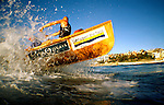Surf boat training in Bondi Beach.
