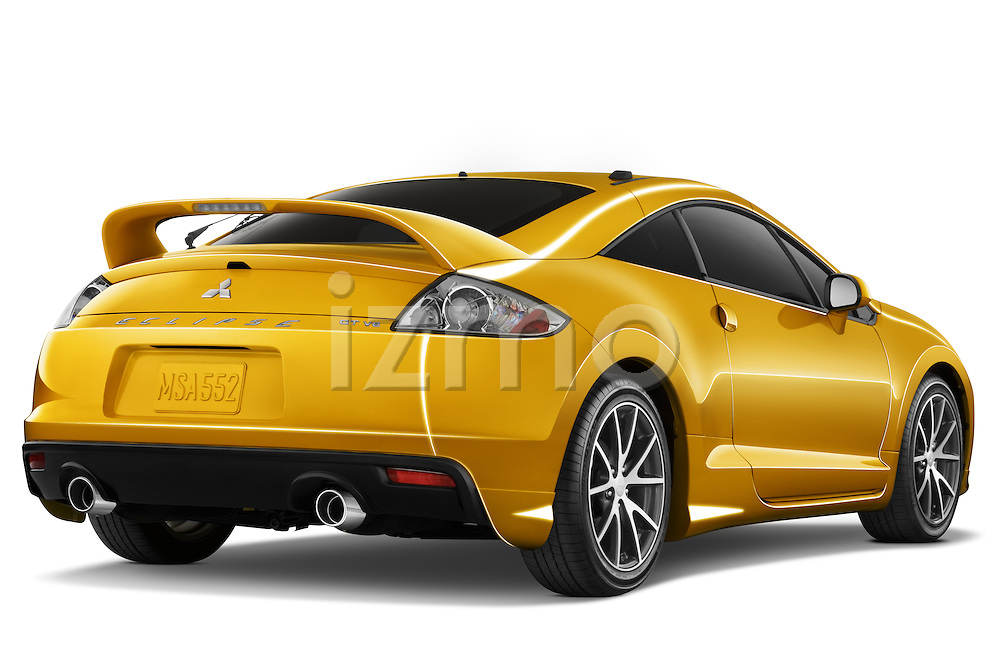 Rear three quarter view of a 2009 Mitsubishi Eclipse GT Coupe
