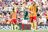 FC Barcellona's Neymar Santos Jr celebrates goal during La Liga match.September 13,2014. (ALTERPHOTOS/Acero) <br /> Football Calcio 2014/2015<br /> La Liga Spagna<br /> Foto Alterphotos / Insidefoto