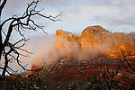 Light and Snow on Lee Mountain, near Sedona, Arizona