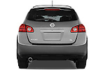 Straight rear view of a 2009 Nissan Rogue SL