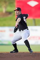 Kannapolis Intimidators starting pitcher Andrew Mitchell (45) in action against the Hickory Crawdads at CMC-Northeast Stadium on May 2, 2014 in Kannapolis, North Carolina.  The Crawdads defeated the Intimidators 7-2.  (Brian Westerholt/Four Seam Images)