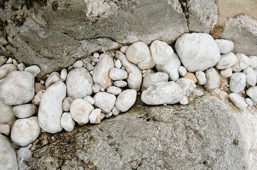pothole, River Soca at &quot;Mala korita&quot; (&quot;Little Canyon&quot;), cascades, stones<br /> Triglav National Park, Slovenia<br /> June 2009
