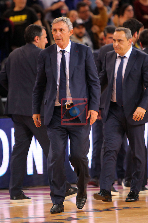 Turkish Airlines Euroleague 2018/2019. <br /> Regular Season-Round 24.<br /> FC Barcelona Lassa vs R. Madrid: 77-70. <br /> Svetislav Pesic.