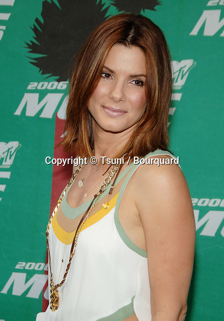 Sandra Bullock arriving at the MTV Movie Awards at the Sony Lot in Los Angeles. June 3, 2006.