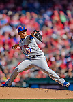 5 April 2018: New York Mets pitcher Hansel Robles on the mound in the 8th inning against the Washington Nationals during the Nationals' Home Opener at Nationals Park in Washington, DC. The Mets defeated the Nationals 8-2 in the first game of their 3-game series. Mandatory Credit: Ed Wolfstein Photo *** RAW (NEF) Image File Available ***