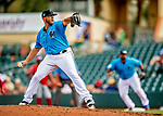 1 March 2019: Miami Marlins pitcher Riley Ferrell on the mound during a Spring Training game against the Washington Nationals at Roger Dean Stadium in Jupiter, Florida. The Nationals defeated the Marlins 5-4 in Grapefruit League play. Mandatory Credit: Ed Wolfstein Photo *** RAW (NEF) Image File Available ***