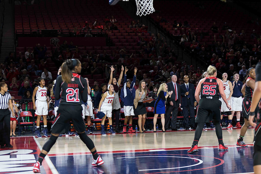 Liberty Women's Basketball takes on North Carolina State University on November 20 2015. (Photo by Kaitlyn Becker Johnson)