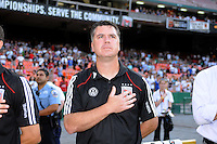 DC United assistant coach Kris Kelderman.   DC United defeated Chivas USA 3-2 at RFK Stadium, Saturday  May 29, 2010.