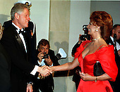 United States President Bill Clinton welcomes actress Sophia Loren to the White House in Washington, D.C. for the Official Dinner honoring President Romano Prodi of Italy on May 6, 1998..Credit: Ron Sachs / CNP