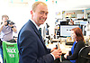 Tim Farron joins Vince Cable, Liberal Democrat Shadow Chancellor and candidate for Twickenham, on a visit to the HQ of Graze, one of the 100 fastest growing companies in the UK, <br /> <br /> The met Graze CEO Anthony Fletcher<br /> <br /> Tim Farron <br /> visits the office staff <br /> <br /> <br /> <br /> Photograph by Elliott Franks <br /> Image licensed to Elliott Franks Photography Services