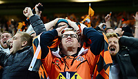 Picture by Simon Wilkinson/SWpix.com - 07/10/2017 - Rugby League - Betfred Super League Grand Final - Castleford Tigers v Leeds Rhinos - Old Trafford, Manchester, England -  Agony for Castleford fans