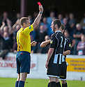 Fraserburgh's Fraser Hay is sent off.