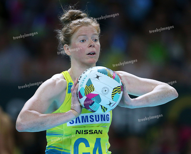 29/10/17 Fast5 2017<br /> Fast 5 Netball World Series<br /> Hisense Arena Melbourne<br /> Australia v South Africa <br /> Tegan Philip<br /> <br /> <br /> <br /> <br /> <br /> Photo: Grant Treeby