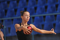 Daria Dmitrieva of Russia performs with ball during training day at 2010 Holon Grand Prix at Holon, Israel on September 2, 2010.  (Photo by Tom Theobald).