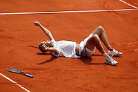 Martin Verkerk gaat volledig uit zijn dak nadat hij Schuettler heeft verslagen en zich heeft geplaatst voor de kwartfinale