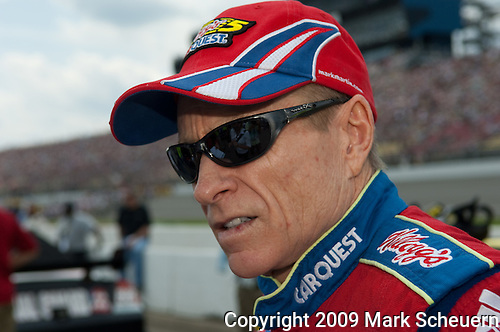 June 14 2009: Sprint Cup driver Mark Martin on the grid at the LifeLock 400 at Michigan International Speedway in Brooklyn, MIchigan.