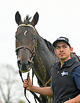 LEXINGTON, KY - APRIL 14: #12, My Boy Jack, with groom Augustin, after winning the G3 Stonestreet Lexington at Keeneland<br />  Race Course on April 14, 2018 in Lexington, KY. (Photo by Jessica Morgan/Eclipse Sportswire/Getty Images)