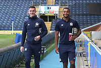 Blackburn Rovers' Darragh Lenihan and Blackburn Rovers' Joe Nuttall<br /> <br /> Photographer Rachel Holborn/CameraSport<br /> <br /> The EFL Sky Bet Championship - Blackburn Rovers v Aston Villa - Saturday 15th September 2018 - Ewood Park - Blackburn<br /> <br /> World Copyright &copy; 2018 CameraSport. All rights reserved. 43 Linden Ave. Countesthorpe. Leicester. England. LE8 5PG - Tel: +44 (0) 116 277 4147 - admin@camerasport.com - www.camerasport.com