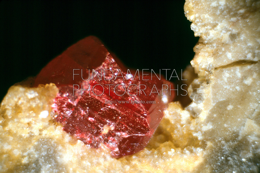 CINNABAR: ORE OF MERCURY; RARE CRYSTAL FORM<br /> HgS Mercury Sulfide (a simple sulfide)<br /> Chief ore of mercury<br /> Hexagonal-Trigonal Trapezohedral crystal form Rare specimen of well individualized crystal.