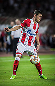 14th September 2017, Red Star Stadium, Belgrade, Serbia; UEFA Europa League Group stage, Red Star Belgrade versus BATE; Midfielder Slavoljub Srnic of Red Star Belgrade controls the crossed ball
