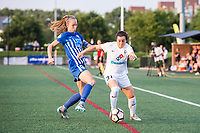 Boston, MA - Friday August 04, 2017: Julie King and Christina Gibbons during a regular season National Women's Soccer League (NWSL) match between the Boston Breakers and FC Kansas City at Jordan Field.