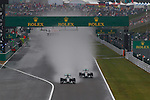 green light and race for the lead between the MercedesGP team drivers Rosberg and Hamilton<br /> SUZUKA, JAPAN, 05.10.2014, Formula One F1 race, JAPAN Grand Prix, Grosser Preis, GP du Japon, Motorsport, Photo by: Sho TAMURA/AFLO SPORT  GERMANY OUT