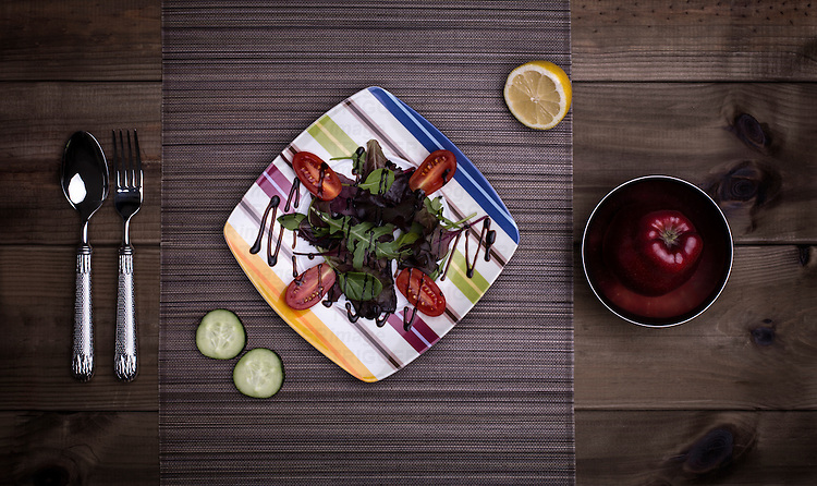 Food stylishly presented on a table