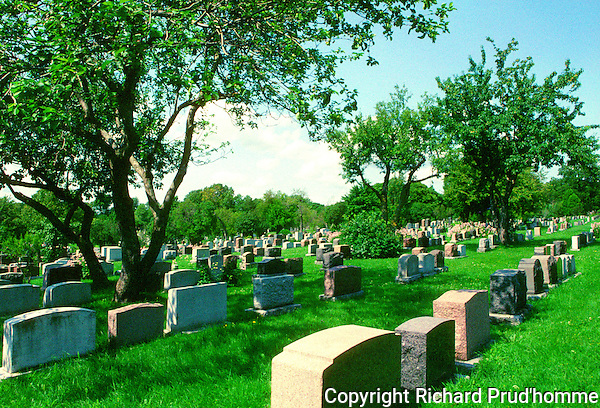 Mount Royal cemetery in Montreal covering more than 165 acres on the north slope of Mount Royal.