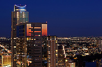 The Austin skyline shown during colorful evening sunset is a reflection of the diversity and sophistication in the city's fashion, shopping, entertainment, arts and culture.