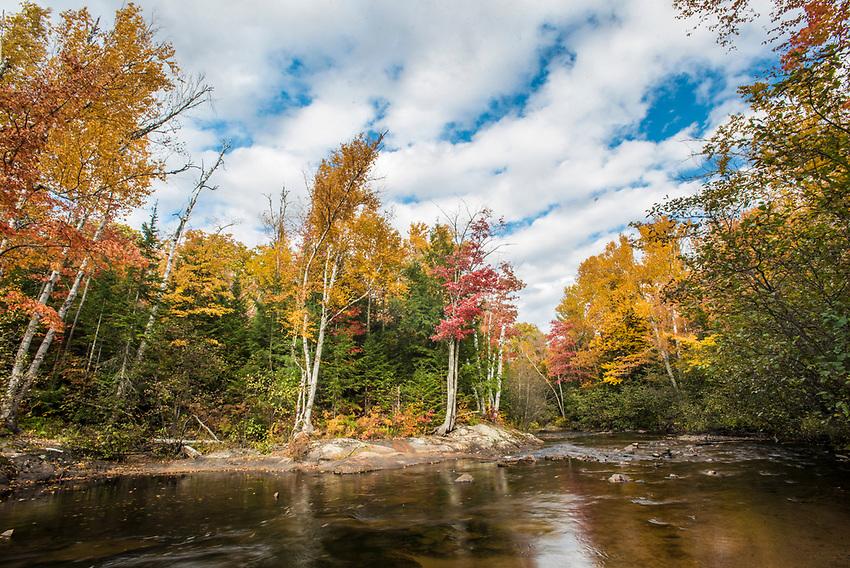 Fall color along the Yellow Dog River near Big Bay, Michigan.