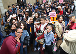 """High School students attend The Rockefeller Foundation and The Gilder Lehrman Institute of American History sponsored High School student #EduHam matinee performance of """"Hamilton"""" at the Richard Rodgers Theatre on 5/10/2017 in New York City."""