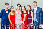 Eoin Sheehan, Meibh Diggin, Brogyn Sheedy, Louise O'Dowd, Lauren Evans and Naoise Buckley, pictured at MIlltown Presentation Secondary School Debs, held at the Earl of Desmond Hotel, Tralee, on Thursday, July 25th last.